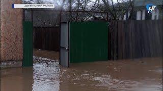 В Валдайском и Демянском районах сильно поднялся уровень воды из-за ливня