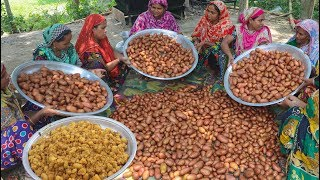 Spice Potato Recipe - 80 KG Alur Dom Cooking To Feed Whole Village People