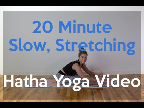 20 Minute Slow, Stretching, Hatha Yoga Video
