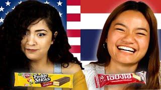 Americans & Thais Swap Snacks