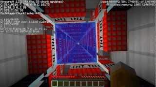Minecraft Piston Invention #26: Auto Reloading TNT Player Launcher !