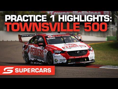 SUPERCARS 2021 NTI Townsville プラクティス1のハイライト動画