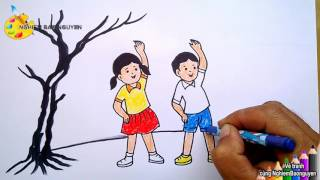 Vẽ tranh Bé tập thể dục/How to draw Baby fitness