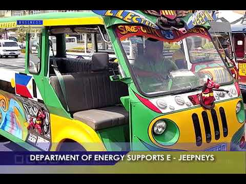 DEPARTMENT OF ENERGY SUPPORTS E-JEEPNEYS
