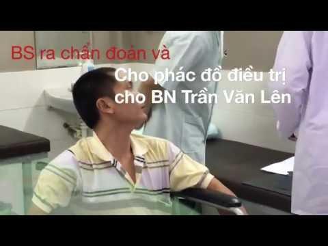 Bệnh nhân Trần Văn Lên được điều trị miễn phí tại TTPHCN Vĩnh Đức