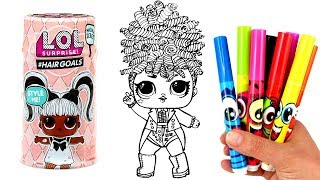 How to Draw LOL Doll Miss Jive | LOL Surprise #Hairgoals Opening Miss Jive Drawing & Coloring
