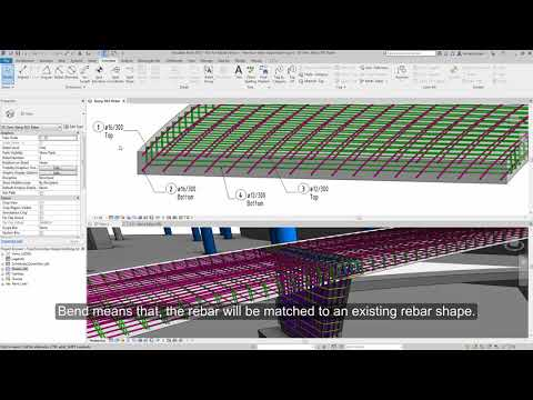 Revit 2019 Free Form Rebar Shape Matching Demonstration
