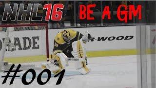 NHL 16 - Be A GM - EP001 - Boston Bruins