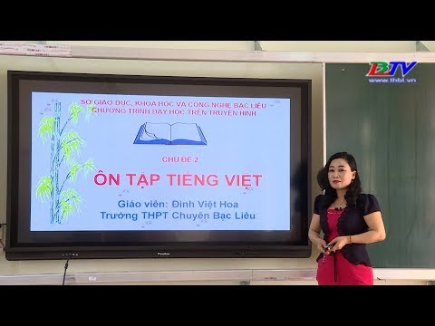 Môn Văn: Chủ đề - Ôn tập tiếng Việt (tiếp theo) - 03/4/2020