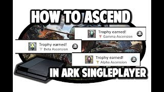 How to Ascend on Ark to Play The Center and Ragnarok on Singleplayer for PS4 and Xbox One