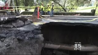 Orinda Sinkhole Repairs Will Have To Wait Until Storms Pass