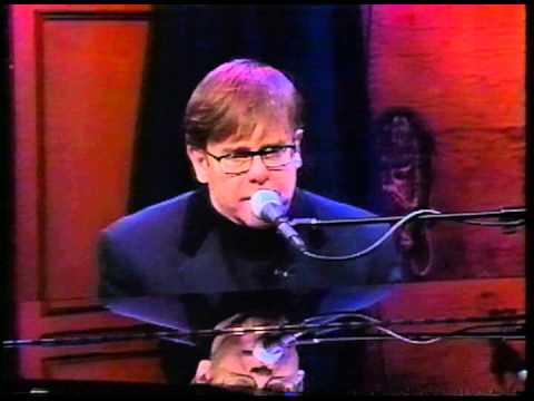 Elton John- Conan O'Brien Show. November 15, 1996. Border Song