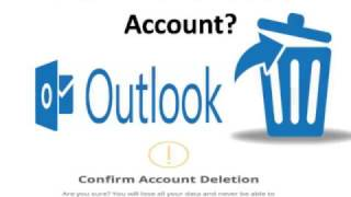 How To Delete Outlook Account?  1-888-886-0477