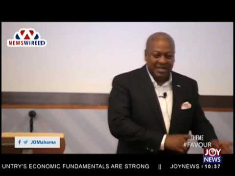 Former President Mahama Preaches on Favour In His Church - News Desk on JoyNews (25-9-18)