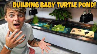 My *NEW* 120G indoor BABY TURTLE POND Build!!