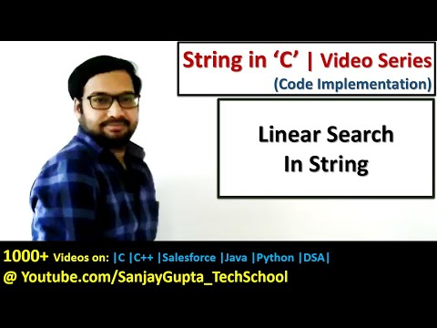 Search whether a character is present in string or not in c programming language
