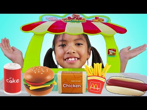 Wendy Pretend Play w/ Mini Super Fast Food Restaurant Shop Play Set