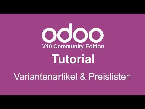 odoo Variantenartikel und Preislisten Webinar