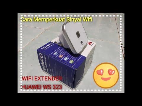 Cara memperkuat sinyal wifi _ unboxing huawei ws323 _ review huawei ws323 _ huawei 322