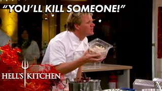 Gordon Stops LETHAL Mistake Over Rancid Crab Meat | Hells Kitchen