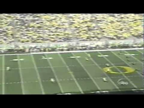 Halftime interview with Michigan coach Lloyd Carr vs. Oregon 9-20-03