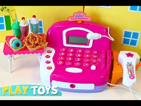 Mini mart CASH REGISTER supermarket toy - Baby doll kitchen toys