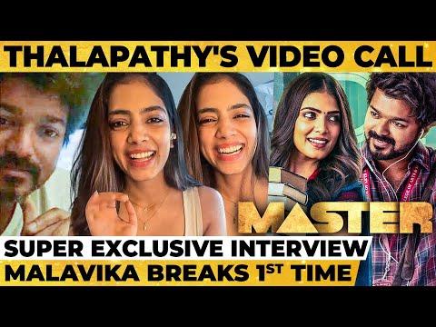தளபதி Video Call-ல என்ன பேசினார், 1st Day Master Shooting with Vijay - Malavika Breaks!