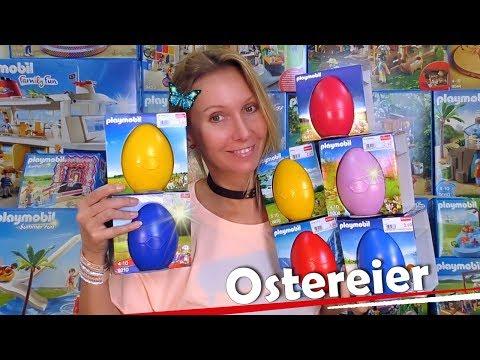 PLAYMOBIL 🐣 Ostereier 👨👩👧👦 6838, 6839, 9207, 9208, 9209, 9210 + 9417 deutsch 🎥 Unboxing