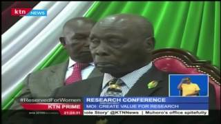 Former President Daniel Arap Moi has challenged universities to invest in research and innovation