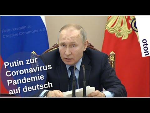 Putin über die Coronavirus-Pandemie auf deutsch [Video]