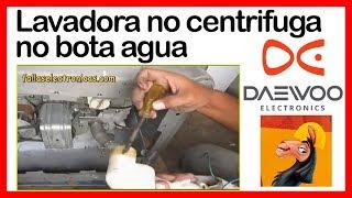 Lavadora 【DAEWOO NO CENTRIFUGA】➤ no bota agua ➤ FACIL SOLUCIÓN