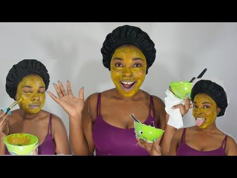 Les masques pour la personne avec lorange et lamidon