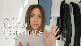10 CLOSET ESSENTIALS | staple basics every girl needs for 2020