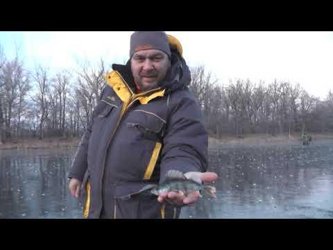 Окуневая рыбалка по первому льду