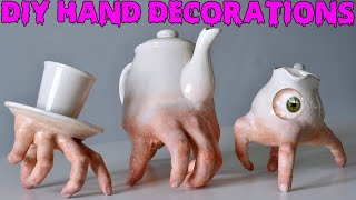 DIY Realistic Hand Halloween Decorations! Inspired By Thing From The Addams Family And Ronit Baranga