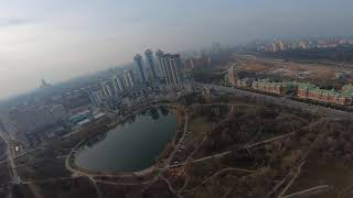 Sunday Flights, Panoramic view of Mosfilmosvsky pond. #Gopro #7 #Съёмка #гоночный #drone