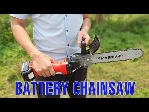 Battery Chainsaw with 5$ and Electric Angle Grinder
