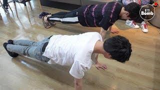 [BANGTAN BOMB] JK & JIN's exercise time - BTS (방탄소년단)