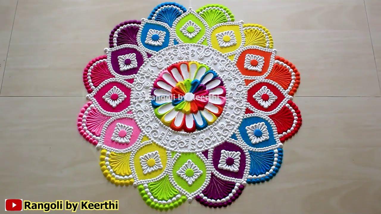 simple maha shivratri rangoli design by keerthi