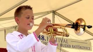 RATÍŠKOVICE - Dechová hudba STŘÍBRŇANKA ze Stříbrnic a její talentovaný šohajek MATYÁŠ ONDRŮŠEK