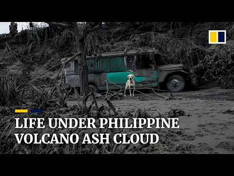 Philippine's Taal volcano blankets surrounding towns in grey ash