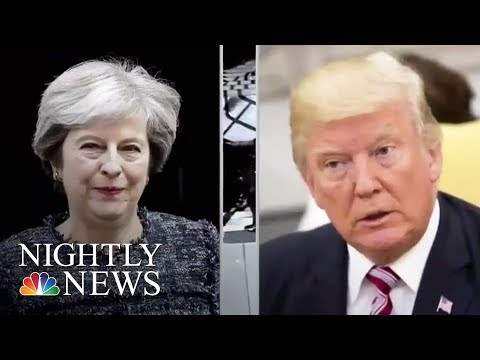 British Prime Minister May Criticizes Donald Trump Over London Subway Attack | NBC Nightly News
