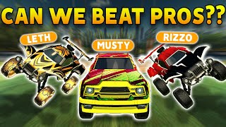 CAN MUSTY, RIZZO & I DEFEAT PROS?