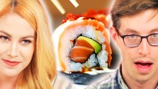 People Learn Disturbing Sushi Facts While Eating Sushi
