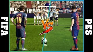 Lionel Messi Free Kicks FIFA vs PES [2006 - 2018]