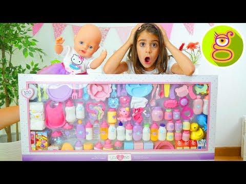 100 ACCESORIOS para BEBÉ 👶 Set gigante de accesorios para BABY BORN o BEBÉS NENUCO con LARA