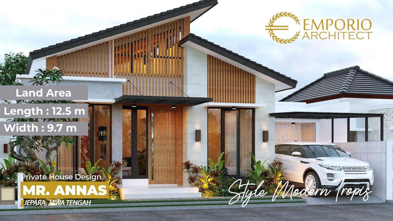 Video 3D Mr. Annas Modern House 1 Floor Design - Jepara, Jawa Tengah