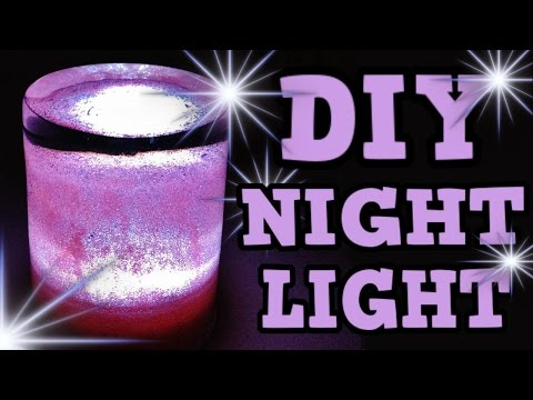 DIY NIGHT LIGHT! Cute GIFT IDEA! New ROOM DECOR idea! CHEAP! EASY! NICE! :D