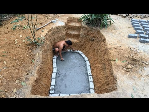 Primitive Technology:Fish Pond-part 1!Primitive life-wilderness!