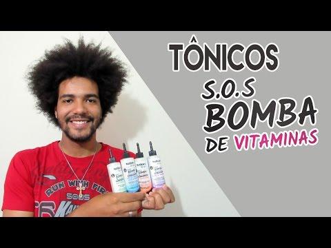 TÔNICOS S.O.S BOMBA DE VITAMINAS SALON LINE + APLICAÇÃO